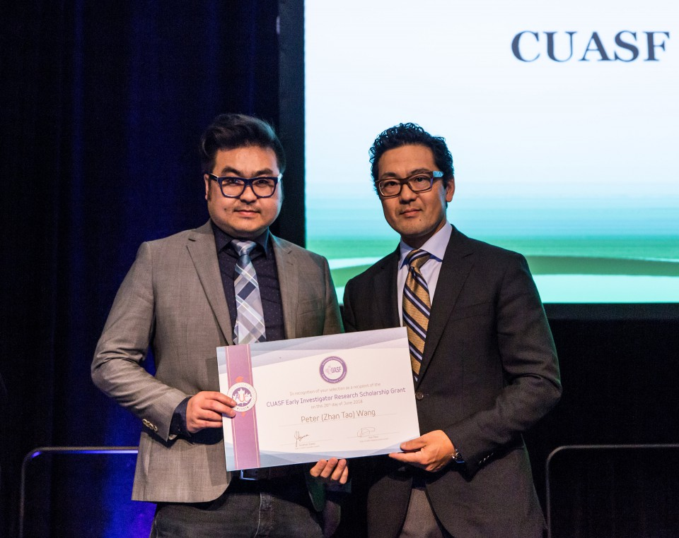 CUASF Early Investigator Research Scholarship Grant	Winner Dr. Peter Wang