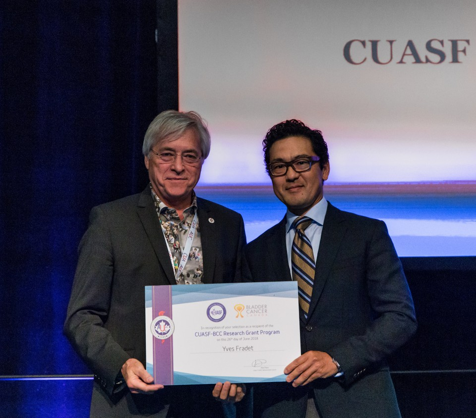 CUASF-BCC Research Grant Program Winner Dr. Yves Fradet